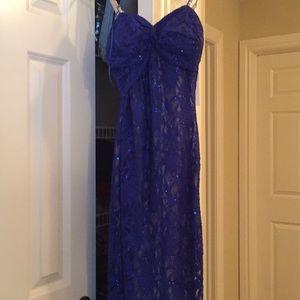 Women's midnight blue party dress